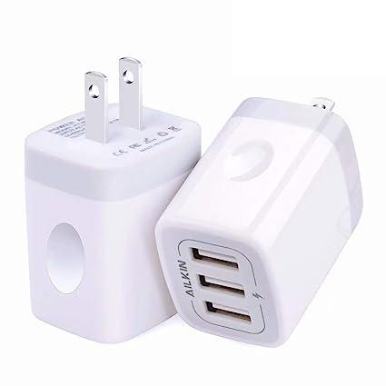 Amazon.com: Cargador de pared USB, bloque de carga, Ailkin ...