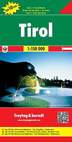Freytag Berndt Autokarten, Tirol, Top 10 Tips - Maßstab 1:150 000
