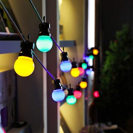 Christmas Led Lights, 20pcs Multicolor Led Spherical String Light Bulbs,  Round Ball Light Waterproof - Amazon.com : Christmas Led Lights, 20pcs Multicolor Led Spherical