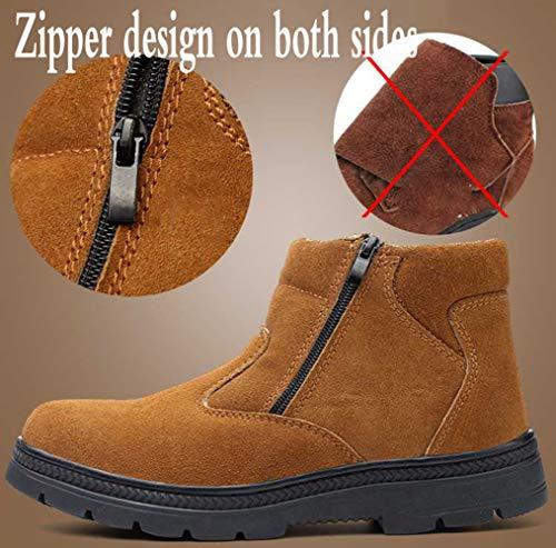 Martin En Boots Plein Et De Air Brown1 Sécurité Bottines Acier Hommes Pour Chaussures gapZqx1