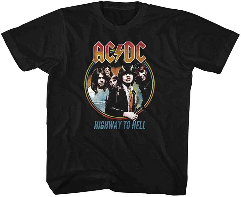AC//DC Kids T-Shirt Highway To Hell Circle Color Tee