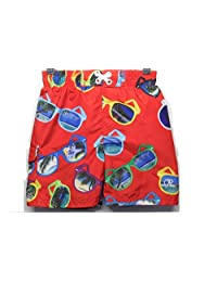 OP Red Swim Trunks w/ Island Sunglasses Design 24M