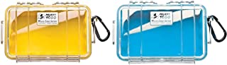 product image for Pelican 1050 Micro Case (Yellow/Clear) & Pelican 1050 Micro Case (Blue/Clear)