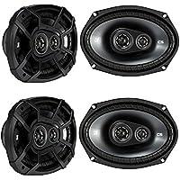 Kicker CSC693 6 x 9 Inch 450W 3 Way 4 Ohm Car Audio Speakers, 2 Pair | 43CSC6934