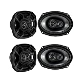Kicker CSC693 6 x 9 Inch 450W 3 Way 4 Ohm Car Audio Speakers, 2 Pair | 43CSC6934