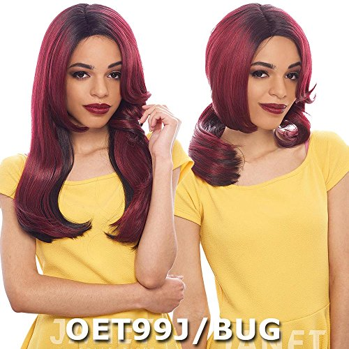Diva Wigs (Janet Collection Two Block Lace Wig - DIVA (2 in 1 Style) (1B Off Black))