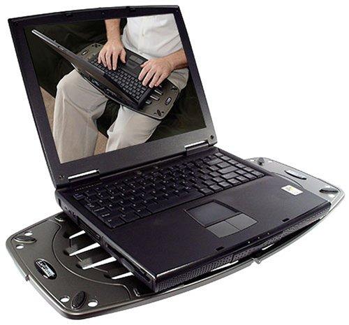 Lapworks Laptop Desk - LapWorks Laptop Desk Futura Gray Portable 1.3 Lb. Lap Desk With 5-Position Support Arm For Desktop Typing And Heat Dissipating Vent Slots That Prevent Hot Lap