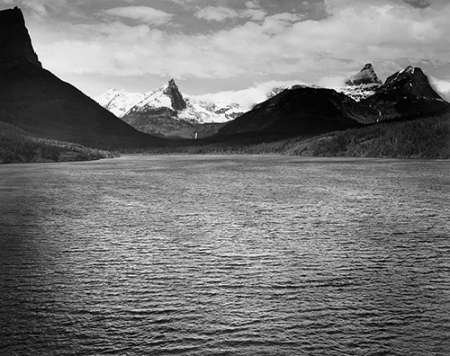 Posterazzi Poster Print Collection St. Marys Lake Glacier Montana-National Parks and Monuments 1941 Ansel Adams, (11 x 14), Multicolored
