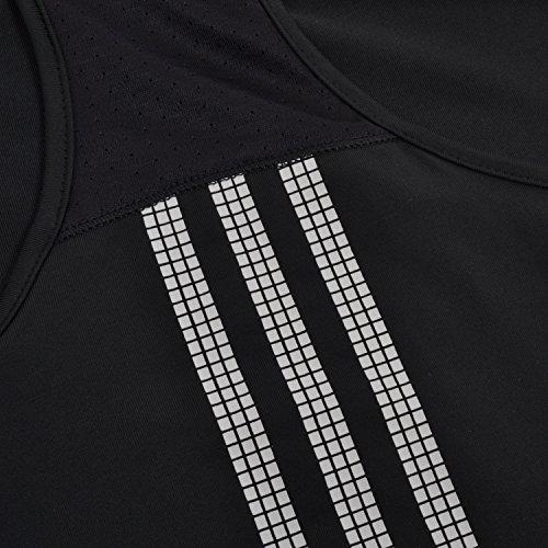 Adidas Climacool para mujer response W tanque tenis sudaderas camisetas sin mangas de piezas superiores T-shirts ropa para deportes de pista de tenis Ökotexstandard ropa de las mujeres Negro negro Tal Negro - negro