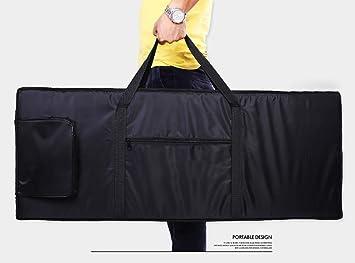 Bolsa de transporte de piano para teclado portátil, 61 notas, funda para mochila de tejido 420D Oxford (HJT07): Amazon.es: Instrumentos musicales