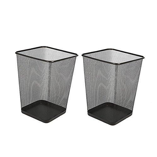 Aojia AJ 2 PACK Rectangular Waste Bin,steel Mesh,10.3