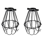 Set of 2 Industrial Vintage Style Black Hanging Pendant Light...