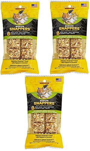 - (3 Pack) Vita Prima Snappers For Hamsters/Rats/Gerbils - Papaya and Coconut