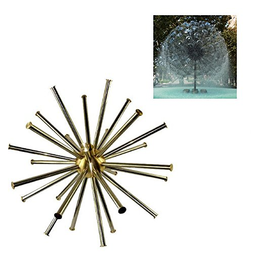 NAVA Brass Hemisphere Dandelion Peacock Tail Fountain Nozzle Spray Pond (1 1/2