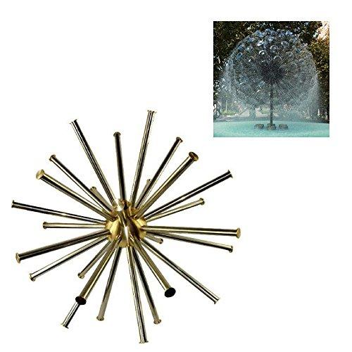 NAVAdeal 1'' DN25 Brass Crystal Sphere Water Fountain Nozzle Spray Pond Sprinkler Head by NAVADEAL