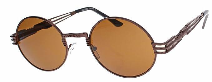 low priced d8cbd e9e70 amashades Vintage Classics oversized Retro Sonnenbrille 90er Jahre Designer  Stil oval gold farbige Gläser Damen Herren