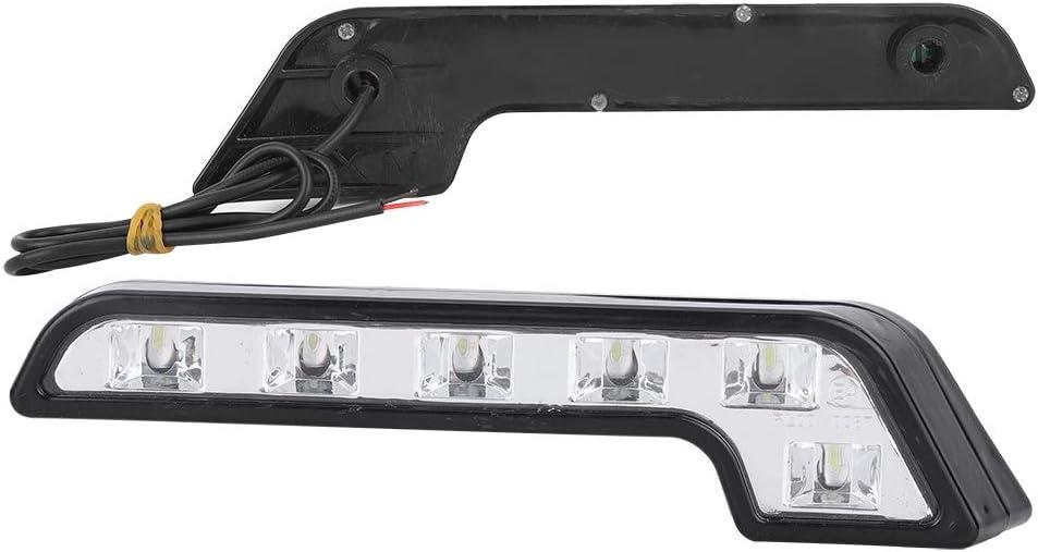 accessoire universel de grande luminosit/é pour feux de jour de voiture 6LED DRL Feu de circulation diurne