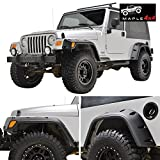 MAPLE4X4 97-06 Jeep Wrangler TJ Fender Flares With Mounting Hardware Pocket Style