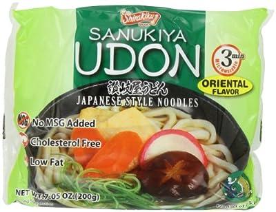Shirakiku Udon Nama Oriental No MSG, 7.05-Ounce (Pack of 12) by Shirakiku