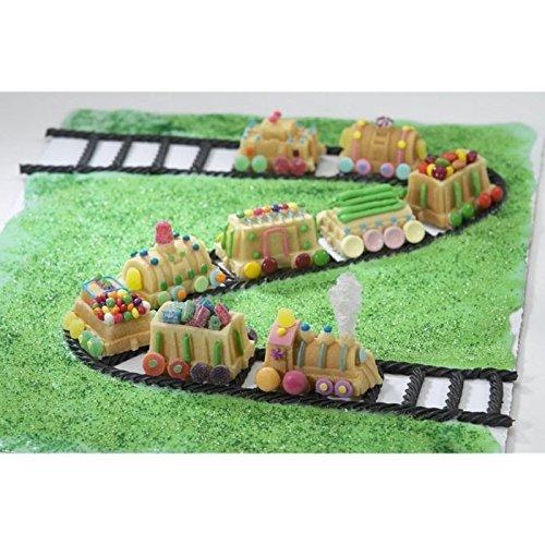 Nordic Ware 59048 Cast Aluminum 3-D Train Railroad Muffin Cake Mold Pan