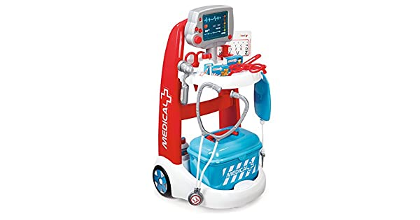Amazon.com: Smoby Smoby Juego de rol Doctor Playset carro ...