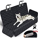 Waterproof Pet Seat Cover Car Seat Cover Protector for Dogs, Heavy Duty Scratch Proof Nonslip Durable Soft Pet Back Seat Covers for Cars Trucks and SUVs with 1 Belts and Hair Remover