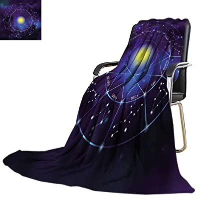 Amazon com: YOYI-home Throw Blanket Zodiac Constellation