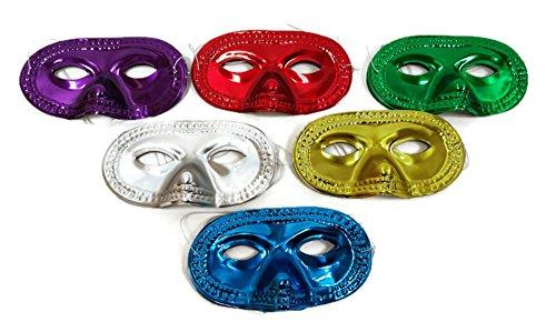 DONDOR Metallic Masks, (48 Piece Party Pack!)]()