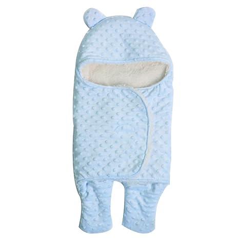 mainaisi recién nacido Swaddle Wrap Saco de dormir Saco de dormir regla doble capa suave S