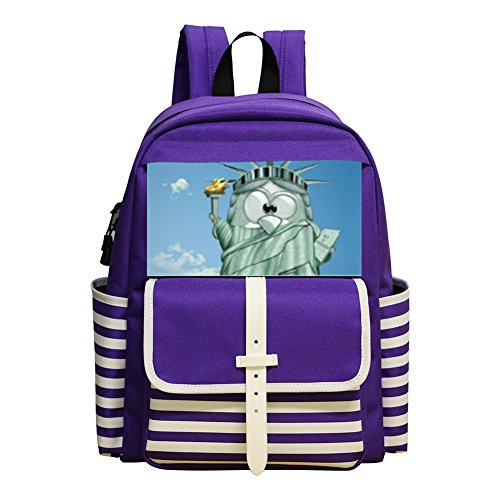 Kids Backpacks Student School Bookbag Animal tower Children Backpack Water Resistant Backpack Purple (Park Tavern Halloween)