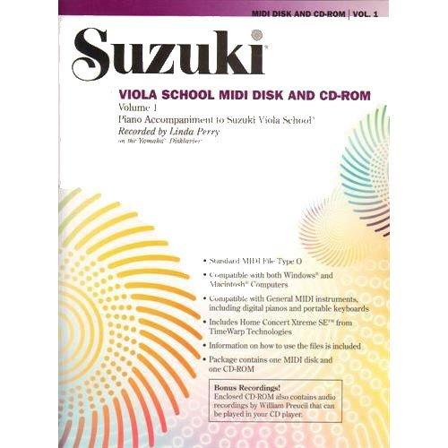 School Midi Disk (Suzuki Viola School Midi Disk & CD-ROM Volume 1 Piano Accompaniment)