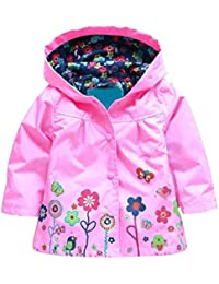 011b64be4d21 Cute Hoodie Outwear Baby Girls Kids Waterproof Hooded Coat Jacket Raincoat