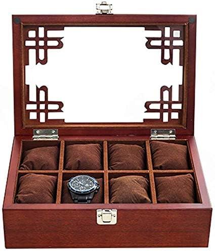 Cajas para relojes Mujer Hombre Caja de Reloj de joyería de Almacenamiento Caja del Caso del Organizador extraíbles Relojes Almohada Caja de Joyería HUYP (Color : Red): Amazon.es: Hogar