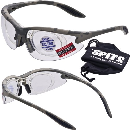 New MAGSHOT Safety Glasses ACU Camo Frame - Hunting/Shooting Adaptable Magnifiers (1.25 Mag Adapter, -