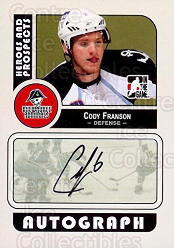Cody Franson Hockey Card 2008-09 ITG Heroes and Prospects Auto ACF Cody Franson