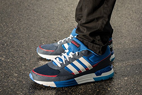adidas Herren XK Run Sneakers Weiß-Blau-Dunkelblau