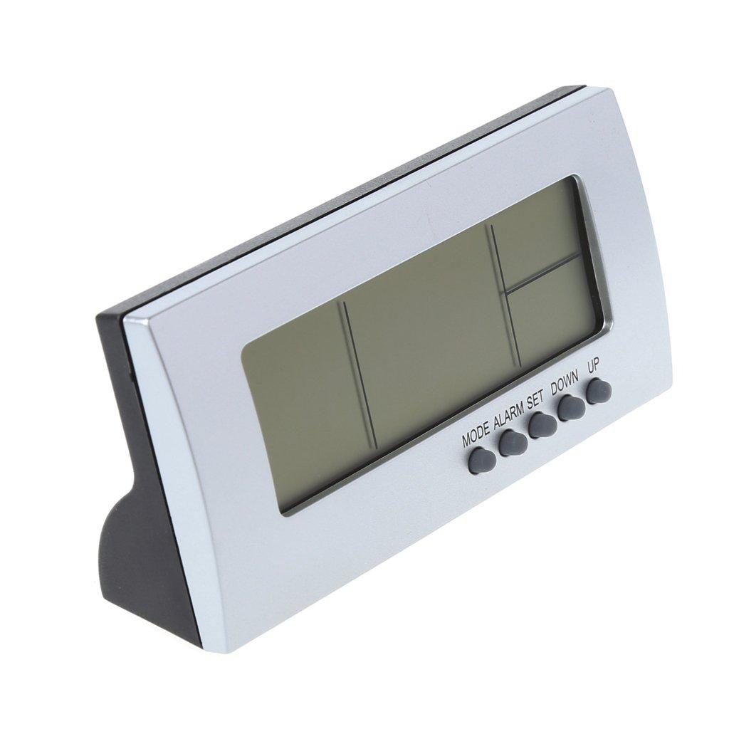OTGO Desktop Digital Snooze LCD Alarm Clock Time Calendar Thermometer Temperature