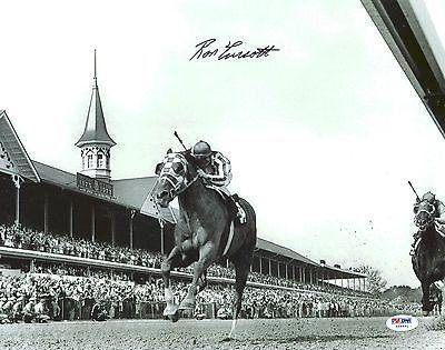 Ron Turcotte 1973 Kentucky Derby Secretariat Signed 11X14 B&W Photo - PSA/DNA Certified - Autographed Horse Racing Photos
