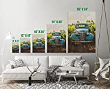 Old Vintage Car Vineyard Art Print Wall Decor Image Detail Colors - Unframed Poster 12 x 18 - S