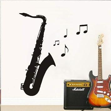 Pbbzl Nota Musical Saxofón Esquema Pegatinas De Pared Para ...