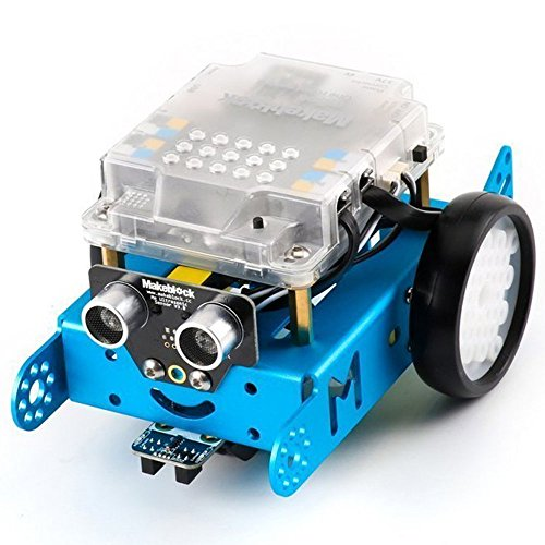 Charming Makeblock MBot Upgrated Model DIY Mbot V1.1 Arduino C Graphical Programming Instructional Robotic Equipment for Youngsters / Adults, Robotics Digital, STEM Schooling -Blue (Bluetooth Model)
