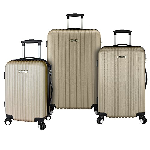 Elite Luggage 3-Piece Lightweight Set, Champagne by Elite Luggage