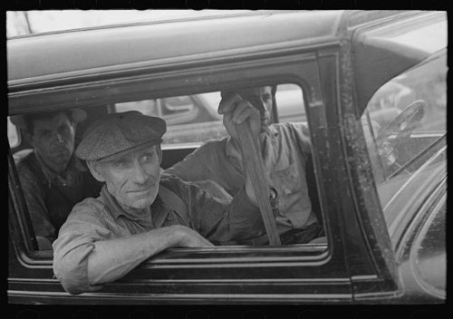 Photo: Farmers at sale of S.W. Sparlin,Orth,Minnesota