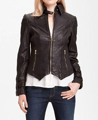 Noora Womens 100/% Pure Slim Fit Leather Jacket