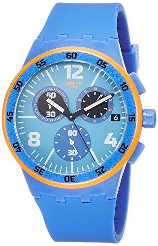 Swatch Capanno Blue Dial Blue Silicone Strap Men'S Watch Susn413 (Original Strap Men Swatch)