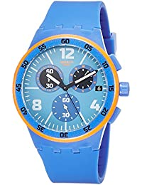 Capanno Blue Dial Blue Silicone Strap Men'S Watch Susn413