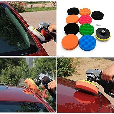 Lavino 11 Pcs 3/4/5/6/7' Buffing Sponge Polishing Pad Kit Set for Car Polisher Buffer S08 Drop Ship - (Size: 7 inches)