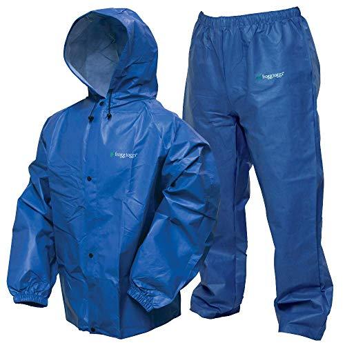 - Frogg Toggs Pro Lite Waterproof Rain Suit, Royal Blue, Size Small/Medium