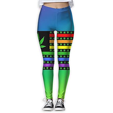 3942ea5ae6 ZPENG Yoga Capris American Flag Gay Love LGBT Pride Weed Fitness Women s  Printed Sports Gym Athletic Pants Leggings at Amazon Women s Clothing store
