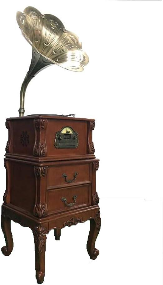 Hongge Gran decoración gramófono de bocina Retro Vintage Vinilo ...